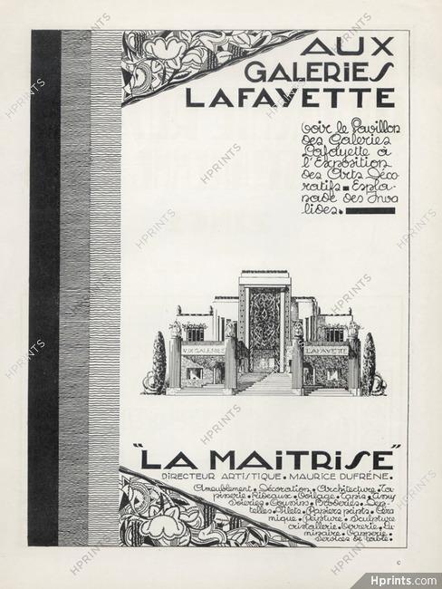 galeries lafayette 1925 la