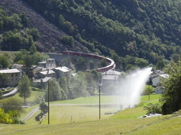 UNESCO Welterbe RhB Kreisviadukt in Brusio