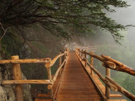 der neue Weg Richtung Selvatico Sassone