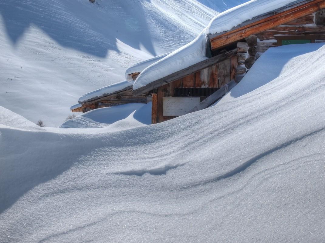 Kunstvolle Strukturen auf Alp Farur