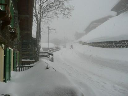 Pisten gut - Schneeketten obligatorisch