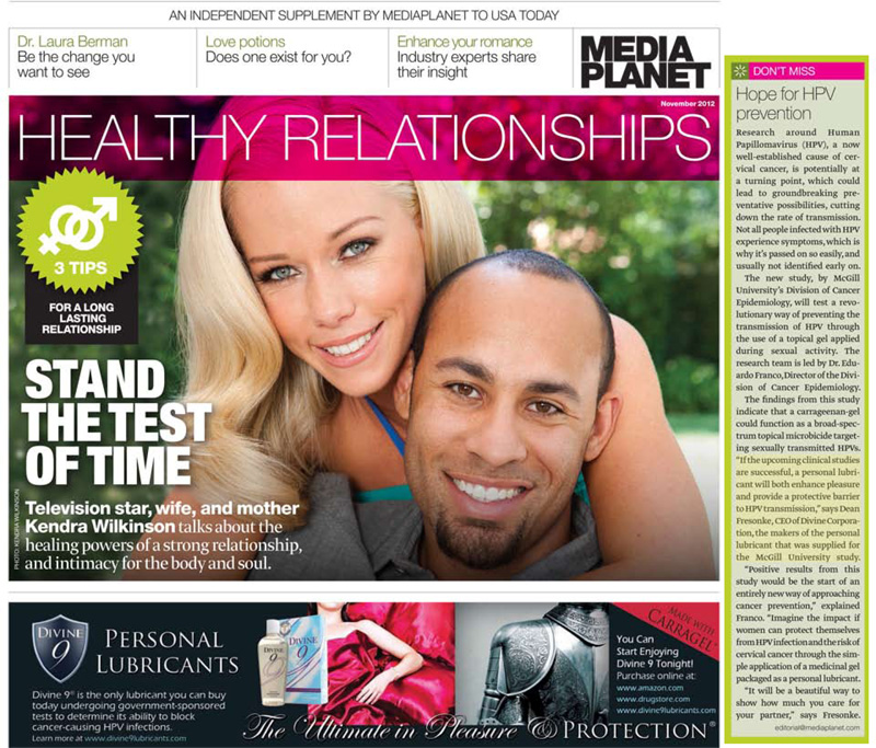 USA Today - Healthy Relationships Supplement