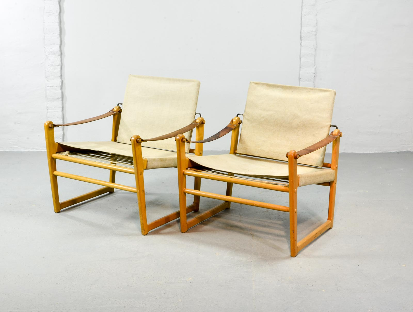 Safari Chair Pair Of Mid Century Safari Chairs Designed By Bengt Ruda