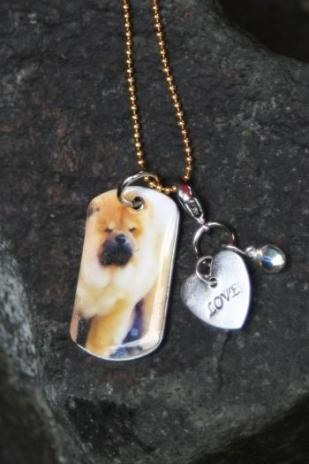 Image of I HEART CHOWS ltd. ed CHOW pendant /chain/charms