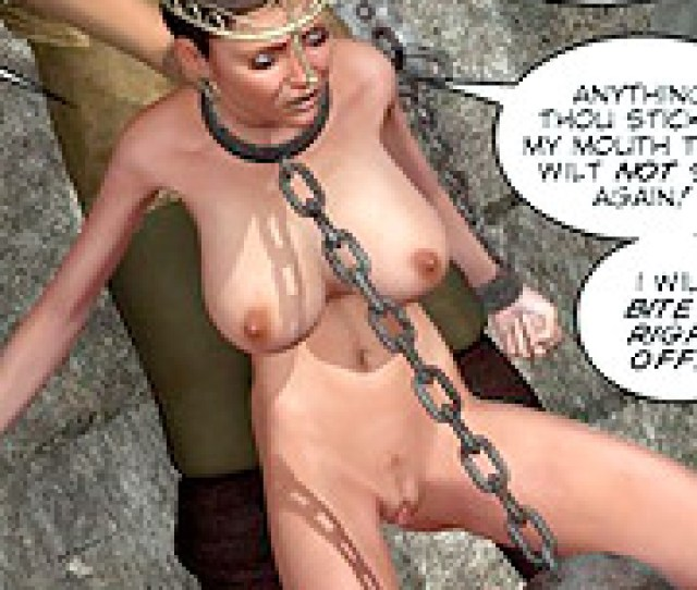 D Bondage Art Chained Captured D Princess Gets Facialized By Her Jailer Tags Cum On Face