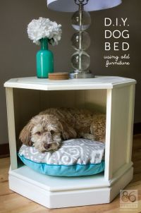 D.I.Y. Dog Bed (side table makeover) - ZERO WASTE WEEKZERO ...