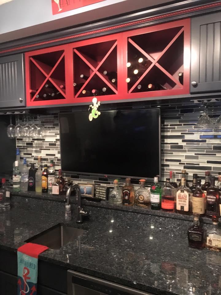 Tile Backsplash  Custom Bar  HQ Discount Flooring