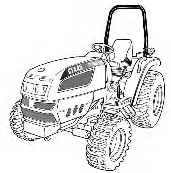Bobcat CT440, CT445, CT450 Compact Tractor Service Repair