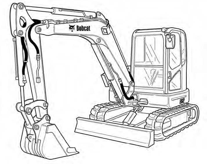 Bobcat E62 Compact Excavator Service Repair Manual