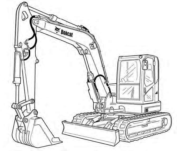 Bobcat E85 Excavator Service Repair Manual Download(S/N