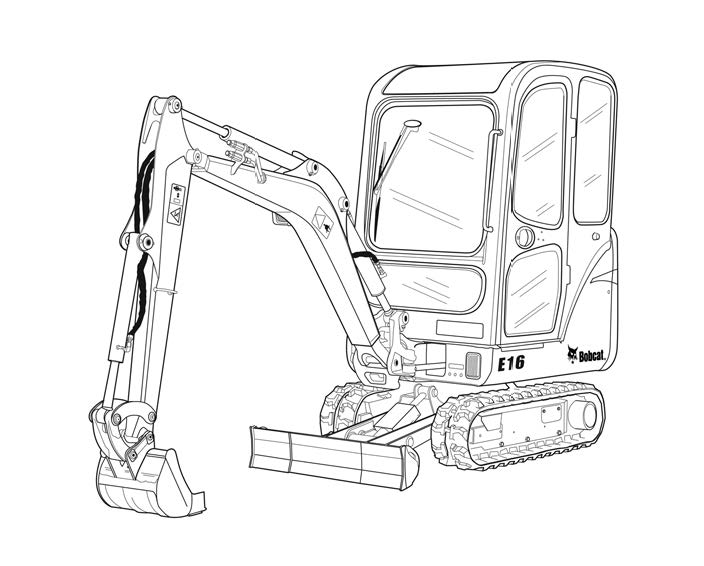 Bobcat E16 Compact Excavator Service Repair Manual