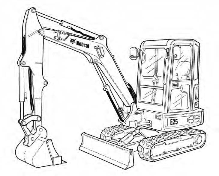 Bobcat E25 Compact Excavator Service Repair Manual