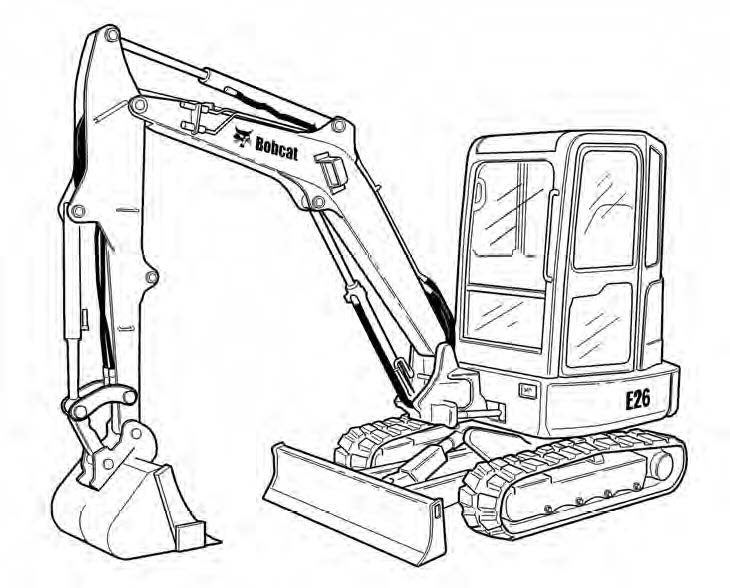 Bobcat E26 Compact Excavator Service Repair Manual