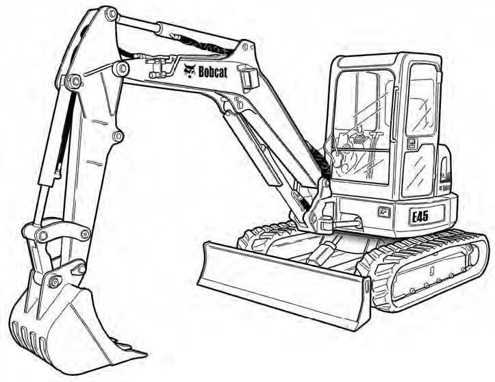 Bobcat E45 Compact Excavator Service Repair Manual