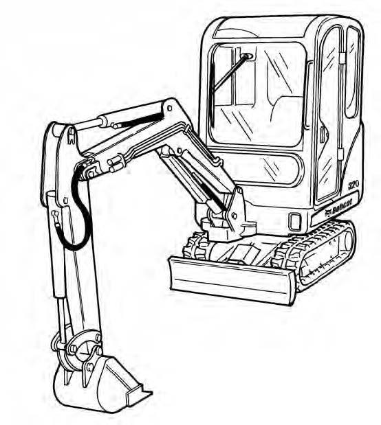Bobcat 320 320L 322 D Series Excavator Service Repair