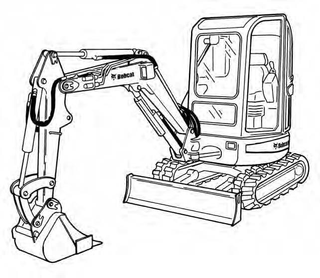 Bobcat 425 428 Compact Excavator Service Repair Manual