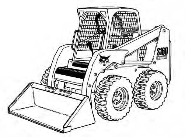 Bobcat S150 S160 Skid-Steer Loader Service Repair Manual