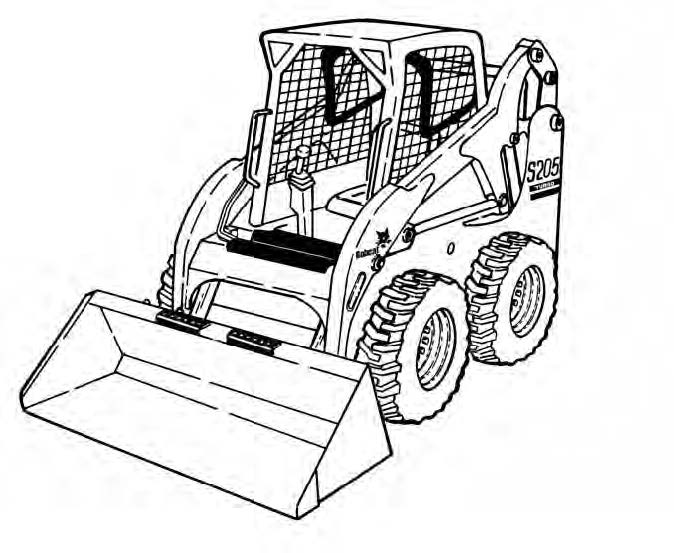 Bobcat S205 Skid-Steer Loader Service Repair Manual