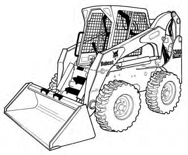 Bobcat S250 S300 Skid-Steer Loader Service Repair Manual