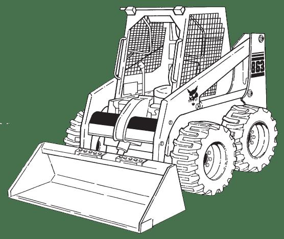 Bobcat 863 Loader Service Repair Manual Download 3
