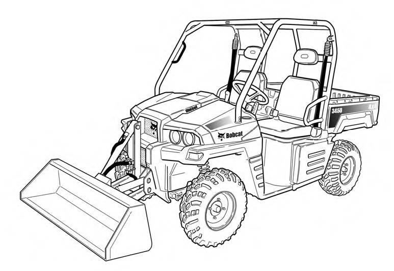 Bobcat 3450 Utility Vehicle Service Repair Manual Download