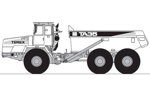 Terex TA35 Articulated Dumptruck Service Repair Manual