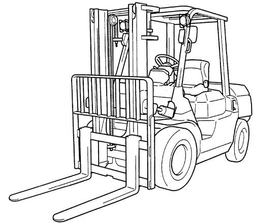 Toyota Forklift 7FGU/7FDU35-80 7FGCU35-70 Series Service