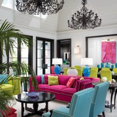 Tropical Living Room Design Ideas Purple Wallpaper Feature Wall House Exciting Interior Lighting With Black Chandelier Drop Ceiling And Dormer Windows For Colorful Mid