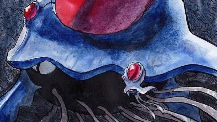 Ocean artwork underwater fan art tentacool tentacruel wallpaper
