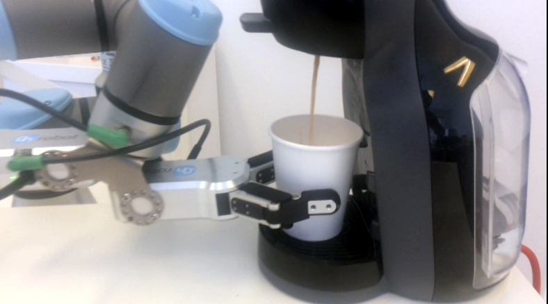 Robot getting coffee