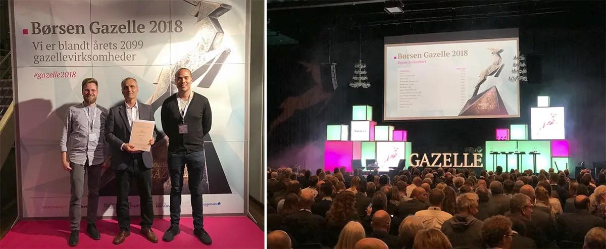 Kasper Kajgaard, Ali cevik og Lennard sorensen holding the gazelle price