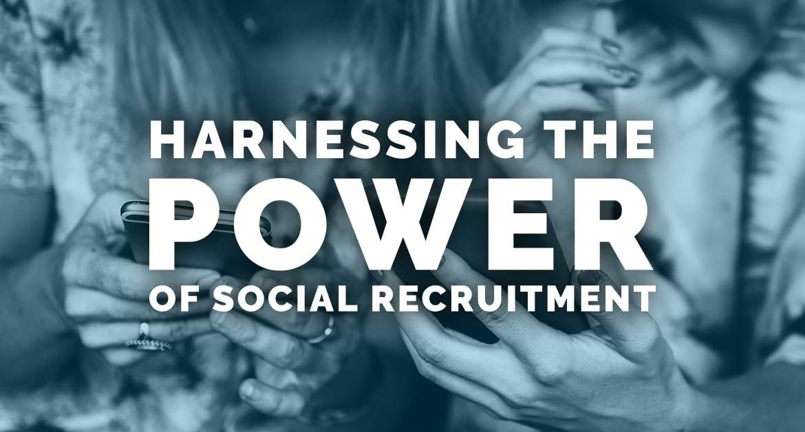 "Et citat der siger: ""Harnes the power of social recruitment"""