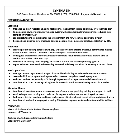 resume examples for county jobs