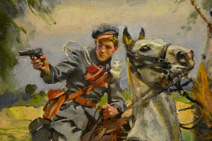 'A Skirmish with Cossacks' by Wojciech Kossak