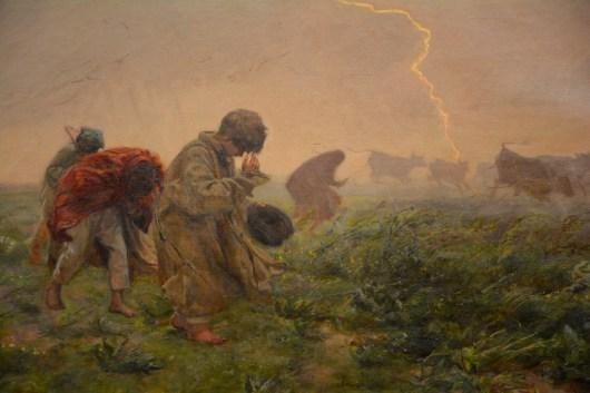 'Storm' by Józef Chełmoński