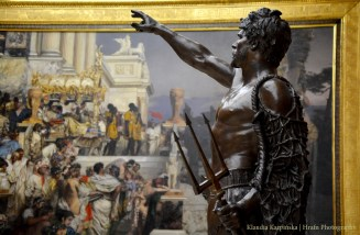 'The Gladiator' by Pius Weloński. In the background: 'Nero's Torches' by Henryk Siemiradzki