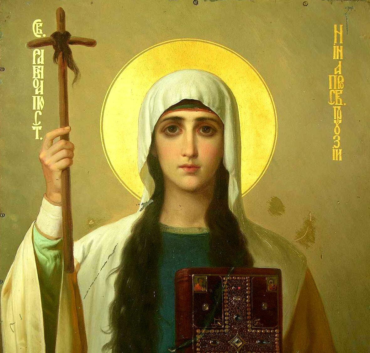 مقدس نینا سهم بزرگی به دین در سراسر گرجستان را ترک کرد. او بود که او را به مسیحیت هدایت کرد