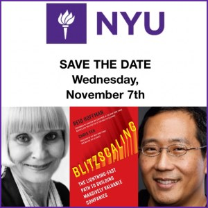 NYU Blitzscaling book launch