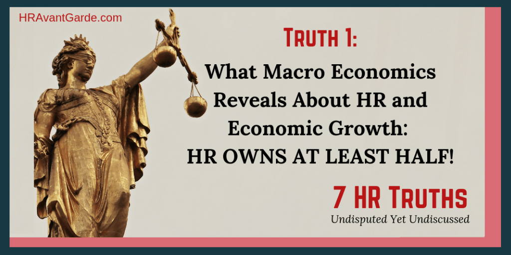 What Macro Economics Reveals About HR and Economic Growth: HR Owns at Least Half!