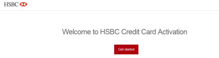 HSBC Credit Card Activation process