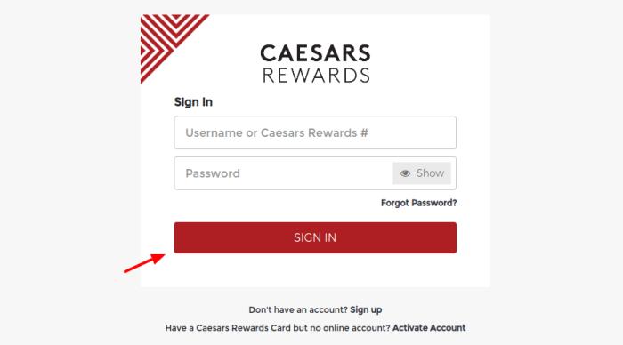 Caesars-Rewards-Sign-In