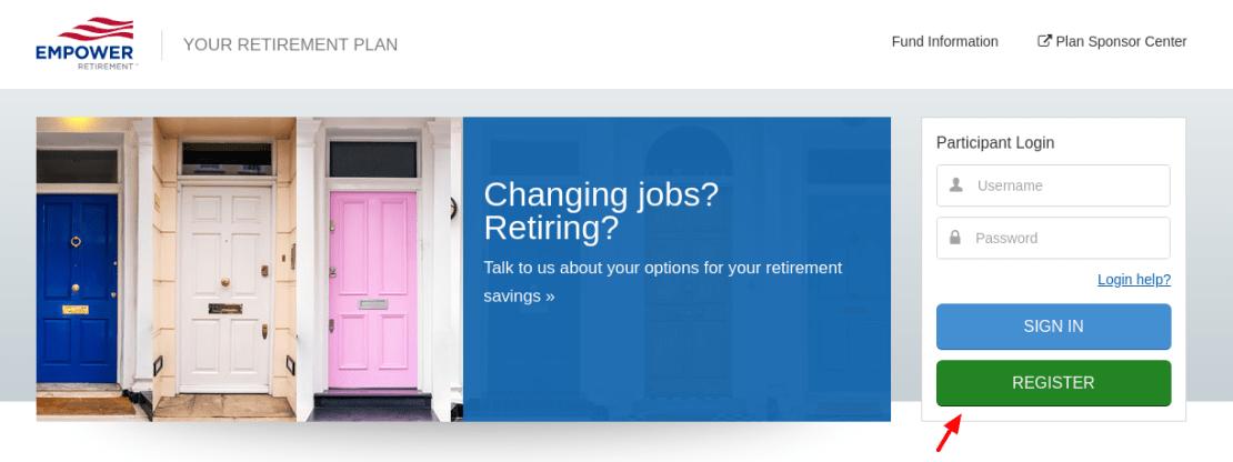 Empower Retirement Register
