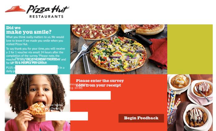 Pizzahut Survey