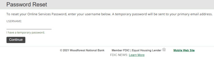 Woodforest Bank Login