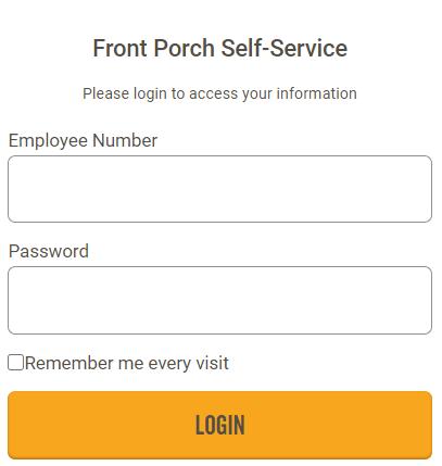 front porch Self Service Login