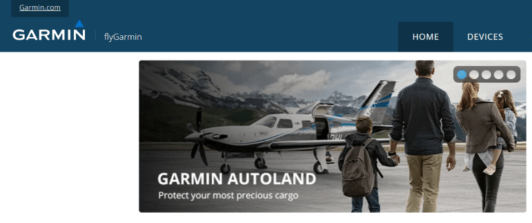 Fly garmin Login portal