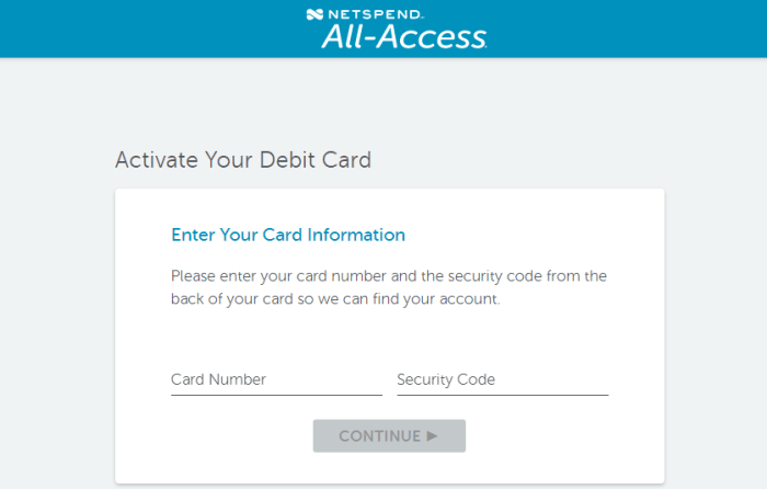 Netspend Card All Access Activate