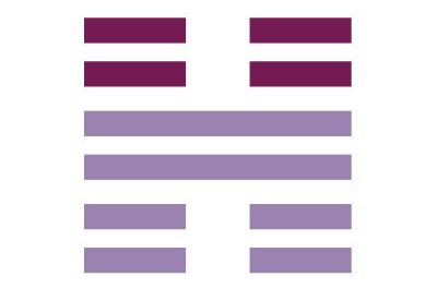 A large letter H in two different shades of purple