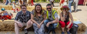 HRG Councillors at the May Fayre - Councillor Glen Lambert, (Mayor of Henley), Cllr Kellie Hinton, Cllr Dave Eggleton and Cllr Sarah Miller