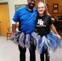 Mr. Page, principal and Megan Robertson, senior PhotoCo: Mrs. Malone